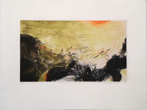 Zao Wou-Ki, Etching with aquatint n°302a