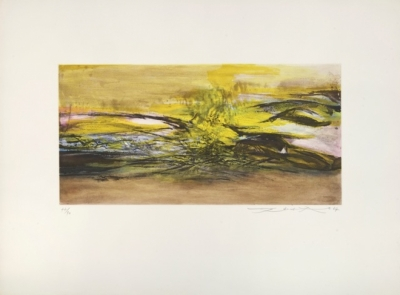 Zao Wou-Ki, Etching and aquatint n°171