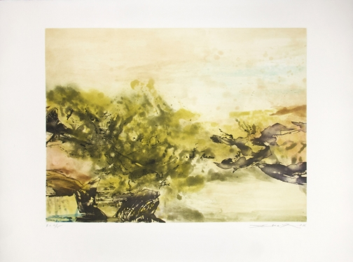 Zao Wou-Ki, Etching with aquatint n°325