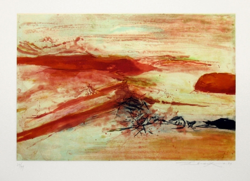 Zao Wou-Ki, Etching with aquatint n°379