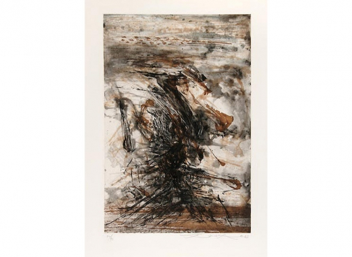 Zao Wou-Ki, Etching with aquatint n°154