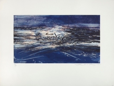 Zao Wou-Ki, Etching and aquatint n°162